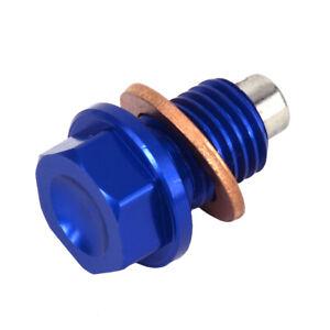 Motorcycle Magnetic Oil Drain Plug Bolt For  DRZ400S DRZ400E DRZ400SM Blue