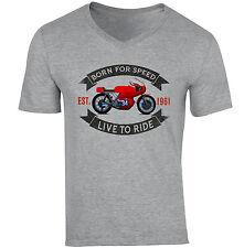 Aermacchi 350 GP 1961-nuevo gris de algodón con cuello en V Camiseta