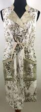 ELIE TAHARI Designer Dress Size 4 Small Brown Cheetah Print Sheath Career