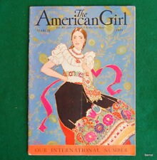 VINTAGE  GIRL SCOUT - 1929 AMERICAN GIRL - MARCH