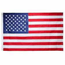 3x5 Ft Nylon American Us Flag Sewn Stripes Embroidered Stars Brass Grommets Usa