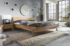 Massivholzbett Schlafzimmerbett  - VIA - Bett Wildeiche 200x200 cm
