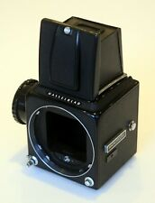Hasselblad 500C/M Body Only c/w Waist Level Finder, Screen, Knob - Exc condition