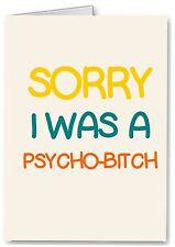 Sorry - Funny Rude Joke Card - Boyfriend Husband Friend Apology I Love You