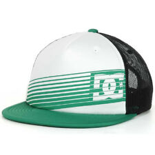 DC Shoes Skate Tear Trucker Mesh Snapback Cap Hat, Green/White/Black NEW