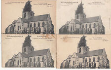 Lot 4 cartes postales anciennes GUERRE 14-18 WW1 MARNE SOMME-SUIPPES église