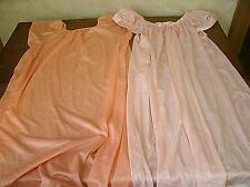 2 vintage silky nylon & lace nightgown Lingerie by Glencraft Sz Small (P10)