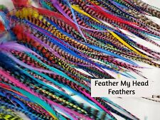 "25 Loose Feathers For fly Tying - Hair - Crafts 5"" to 11"" Long"