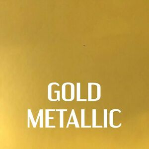 """24"""" x 12"""" - Metallic Gold - Outdoor, Permanent Adhesive Vinyl for Signs, Decals"""
