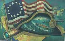 Navy, Marine Corps Bicentennial Vignette by Charles Ellis Postcard