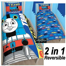 THOMAS THE TANK ENGINE TEAM SINGLE DUVET COVER SET PANEL BLUE OFFICIAL FREE P+P