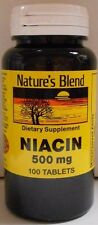 Natures Blend Niacin 500mg Tablets, 100 Count, Expiration Date 04-2019