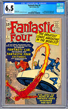 FANTASTIC FOUR #3 CGC 6.5 STAN LEE & JACK KIRBY 1ST COSTUMES & FANTASTI-CAR 1962