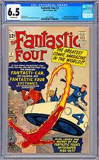FANTASTIC FOUR #3 CGC 6.5 STAN LEE & JACK KIRBY 1ST COSTUMES & FANTASTI-CAR 1962