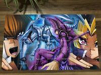 NEW Yugioh Magician Dark & Yugi Mutou & Blue-Eyes White Dragon CCG TCG Play Mat