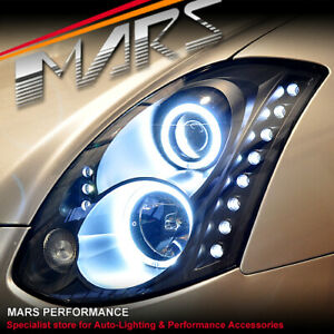 LED DRL & Halo Projector Head Lights for Nissan Infiniti Skyline G35 V35 Coupe