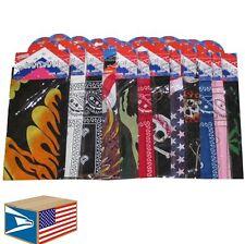 "12 LOT BANDANA Assorted Designs 22x22"" COTTON BANDANNA FABRIC SCARF FLAGS CAMO!"