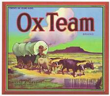 Ox Équipe, Original Pomme Caisse Label, Recouvert Waggon, Wayne B.Garret ,