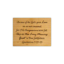 Lamentations 3:22-23 bible verse mounted rubber stamp, Lord's great love, CMS 5