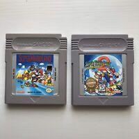 Super Mario Land 1 & 2 Authentic Original OEM Nintendo Gameboy Game Bundle Lot