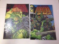 Savage Dragon  #1 & 2 Image Comics 1993 VF/NM Teenage Mutant Ninja Turtles