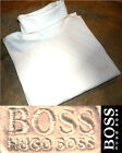 HUGO BOSS HOMME SWEAT TEE SHIRT COL ROULE MANCHES LONGUES BLANC TAILLE XL NEUF