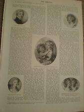 Article on miniaturist artist Richard Cosway 1897 ref AY
