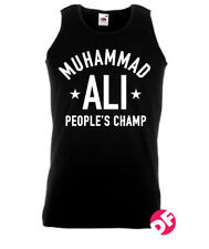 Muhammad Ali People's Champ Sleeveless Tshirt Vest Top Retro Design NEW