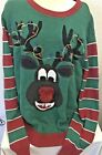 Ugly Christmas Sweater Size XL Reindeer Pooping Peppermints Santa Holiday