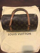 Authentic LOUIS VUITTON Monogram Canvas Leather Papillon Vintage Handbag
