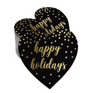 Happy Holiday Paper Tags Craft Foil Hang Tags-SH4_18BG