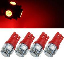 4 Pcs T10 5 SMD 5050 LED Light Car Bulb 168 194 W5W 2825 158 Width Tail Lamp 12V