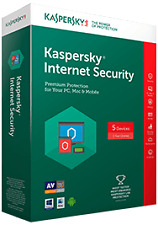 Kaspersky Internet Security 2017 For 1 User New Latest Version 1 Year