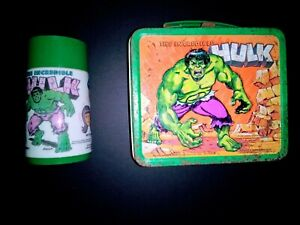 1978 Marvel Comics Vintage Aladdin The Incredible Hulk Lunch Box With Thermos