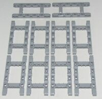 LEGO LOT OF 10 Light Bluish Gray Technic Liftarms 5 x 11 Open Center Frame Thick