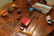 Marx Western Town Miniature Play Set-handpainted figures 1966 original box nice!