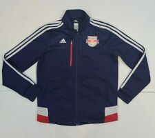 NY Red Bulls Adidas Track Jacket Fleece Lined Youth M Adult XS BARELY WORN