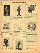 1964 PAPER AD Aurora Model Frankenstein Phantom Of The Opera Electrostatic Toy