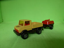 MATCHBOX SUPERKINGS UNIMOG K-30 WITH TRAILER 1978 1/43 - EXCELLENT CONDITION -