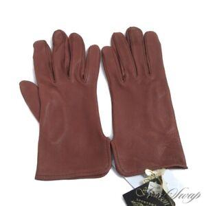 NWT Spearson Genuine Deerskin Leather Bourbon Brown Unlined Vintage Gloves M NR