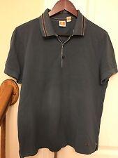 Men's HUGO BOSS Orange 100% cotton Polo Blue T-Shirt, Size M
