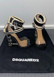 DSQUARED2 Sybil Sandals Black Size 37 High Heels