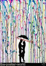 Marc alle anderen Kategorien due passi DI DANZA OMBRELLO Acquerello Wall Art Print NUOVO