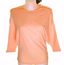 Bnwt Womens Oakley 3/4 Stretch Batwing T Shirt Large Peach Regular Fit