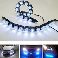 2 Stück Universal 12 LED Tagfahrlicht Lampe Flexible Auto Nebelscheinwerfer