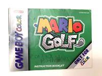 Mario Golf Instruction Manual Booklet Book Gameboy Game Boy Color GBC Nintendo