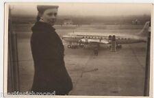 KLM Aeroplane at Airport, Postcard Size Photo, B550