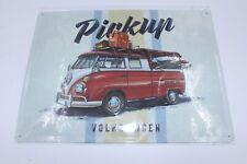 Original VW Bulli Blechschild T1 Pickup limitierte Ausgabe Schild Transporter