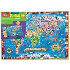 NEW T.S. Shure Jumbo 500 Pc World Map Wooden Puzzle PuzBox Collector's Edition!