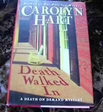 "CAROLYN HART ""DEATH WALKED IN"" FIRST EDITION HARDCOVER BOOK NEW"